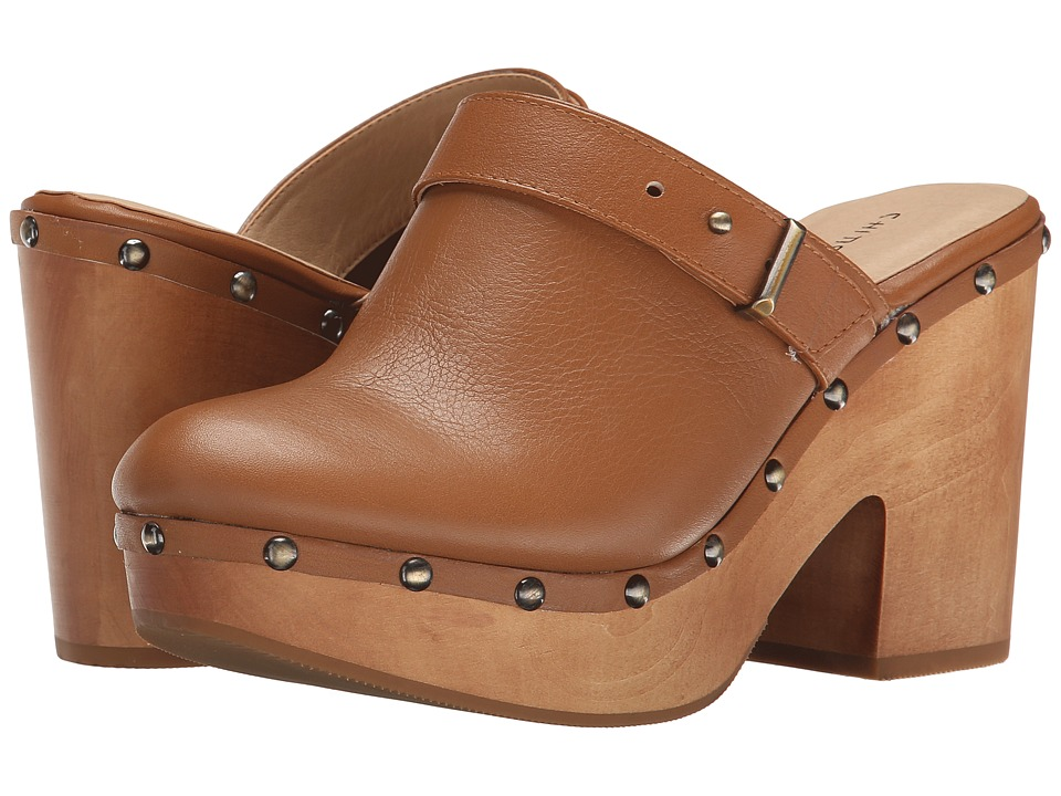 Chinese Laundry - Walk On Leather Clog (Cognac Leather) Women