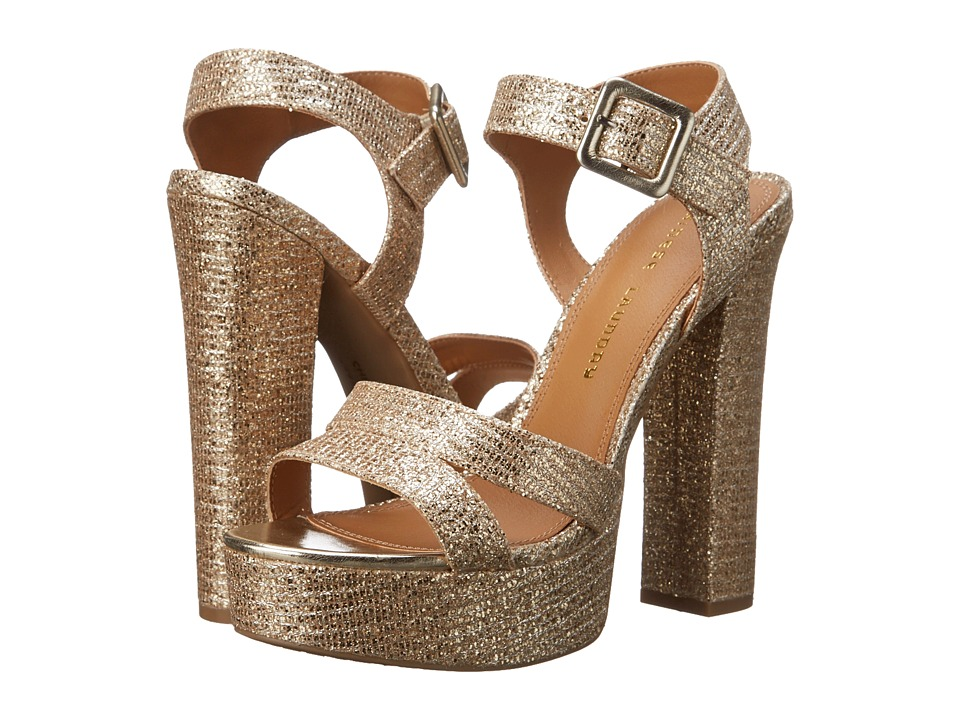 Chinese Laundry - Allspice Platform Sandal (Champagne Glitter) High Heels