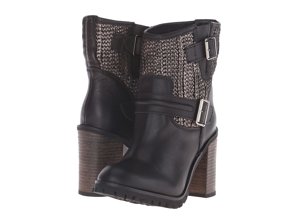 Chinese Laundry - Leafy (Black/Pewter Leather) Women's Pull-on Boots