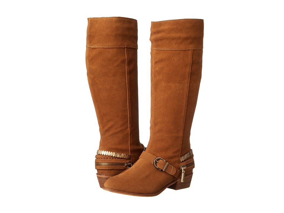 Chinese Laundry - Solar Knee High Buckled Boot (Camel Burnished) Women's Pull-on Boots