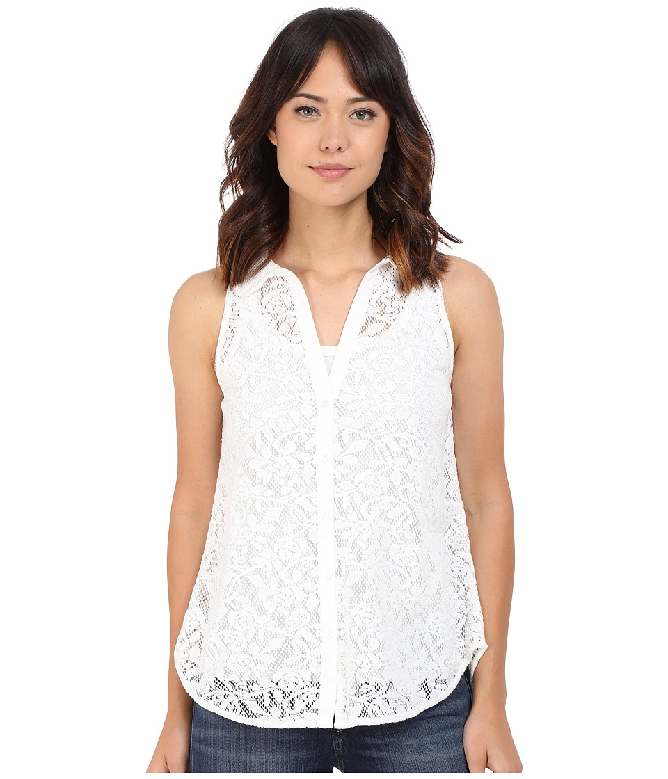 Roper - 0352 All Over Lace Sleeveless Blouse (White) Women's Sleeveless