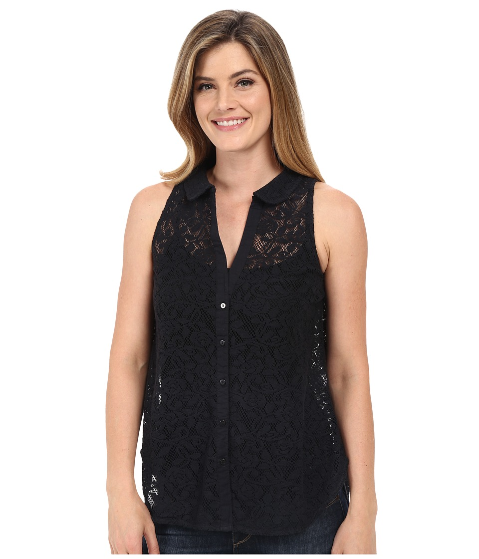 Roper - 0352 All Over Lace Sleeveless Blouse (Black) Women's Sleeveless