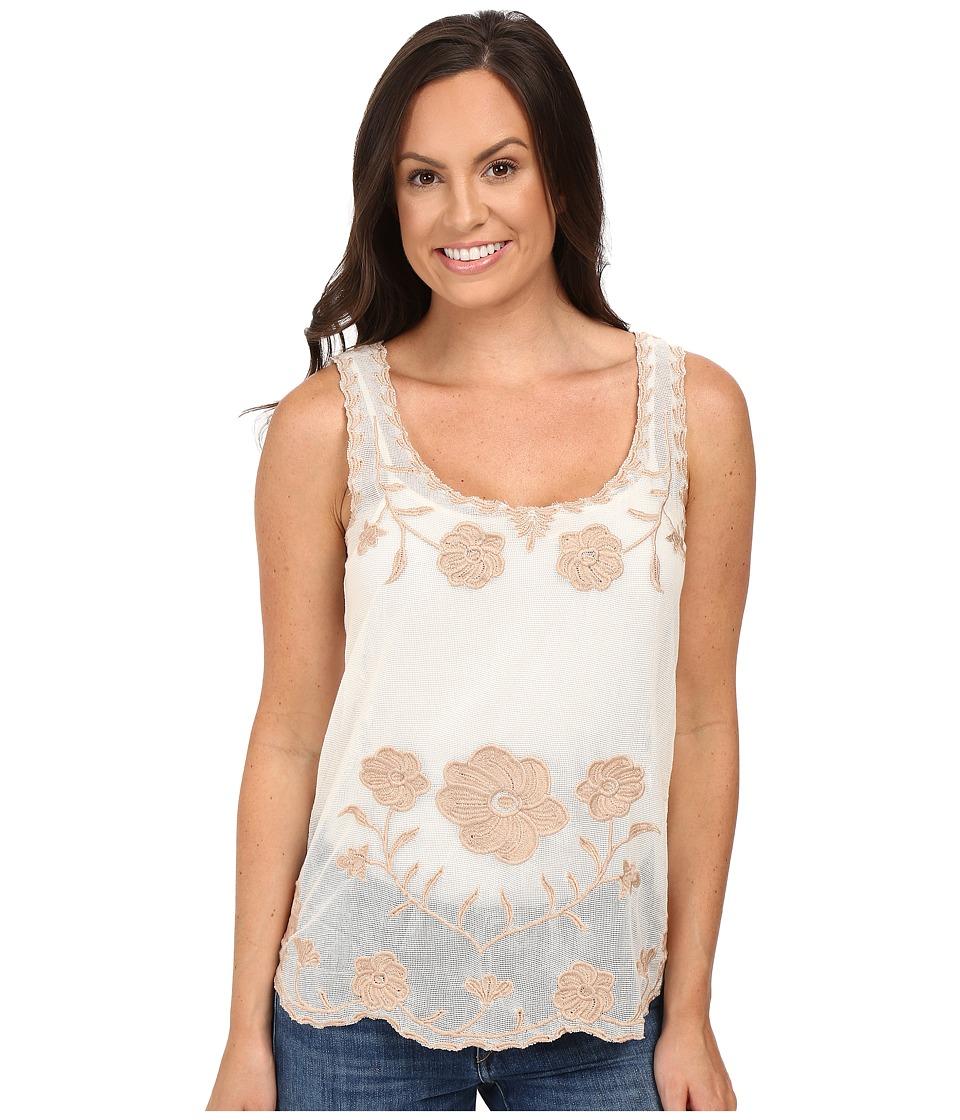 Roper - 0348 Cotton Net Mesh Tank Top (White) Women's Sleeveless
