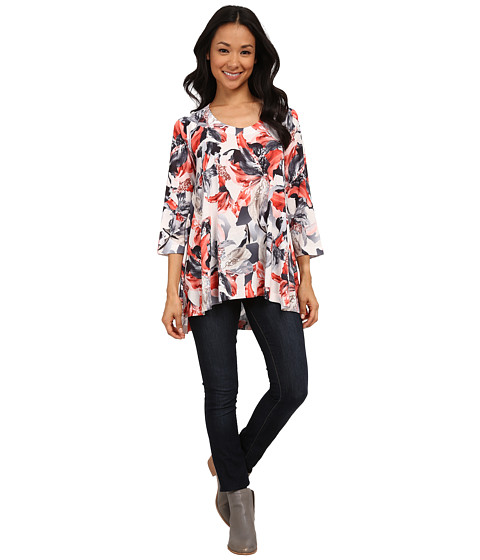 Nally & Millie - Lily Print Tunic (Multi) Women's Blouse