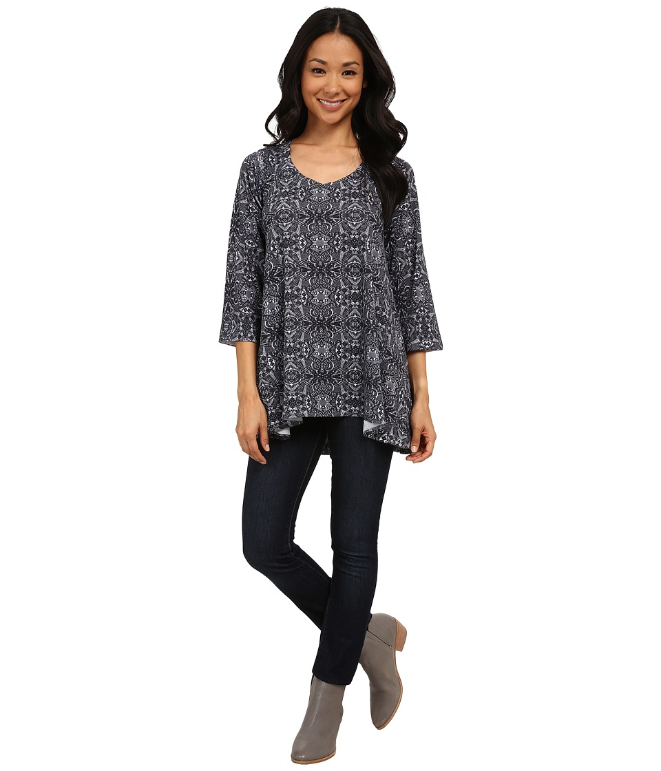 Nally & Millie - Aztec Print Sweater Tunic (Multi) Women's Blouse