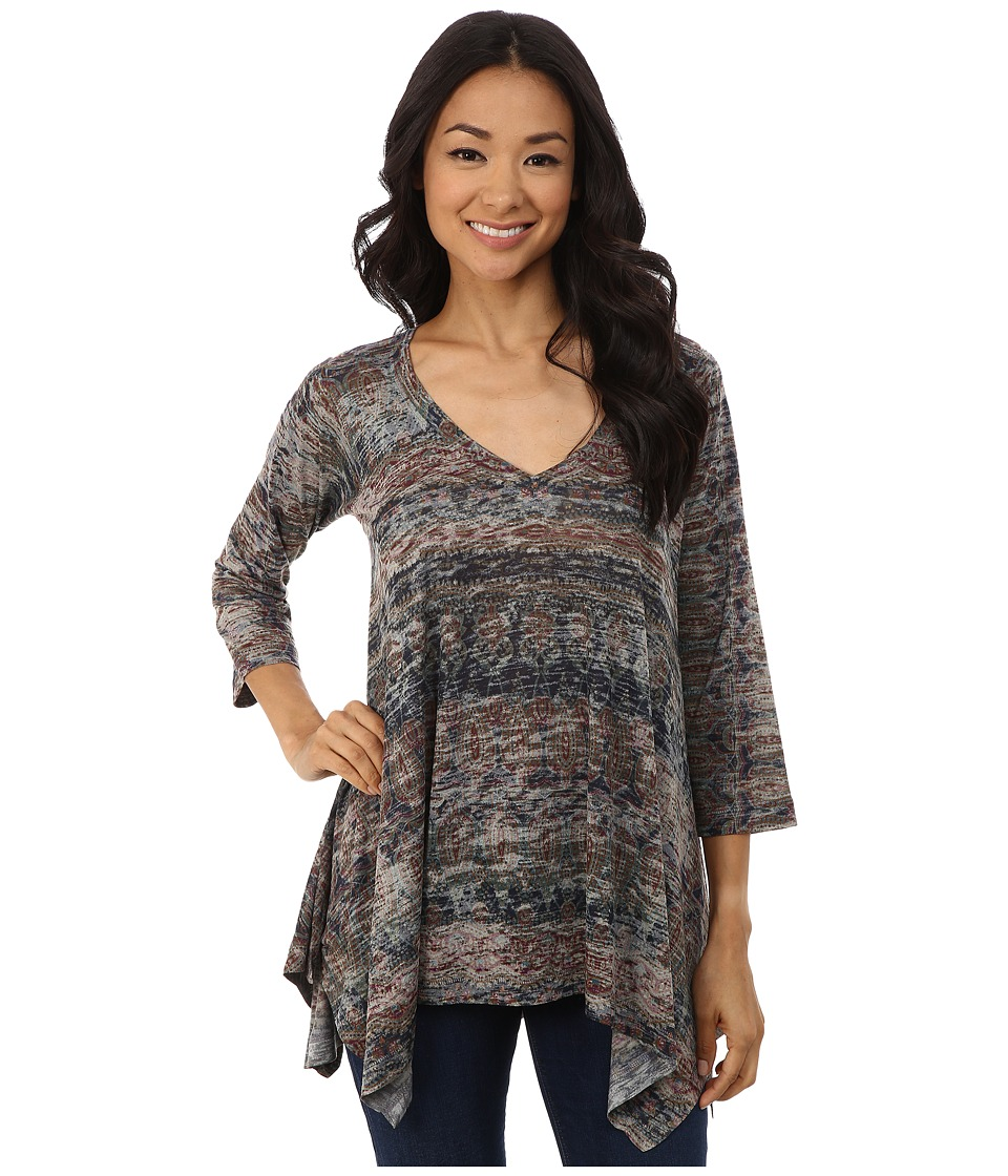 Nally & Millie - Ikat Sharkbite Tunic (Multi) Women's Blouse