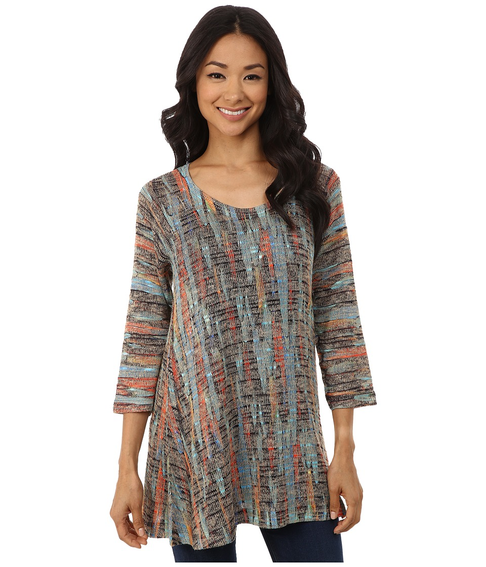 Nally & Millie - Feather Print Tunic (Multi) Women's Blouse