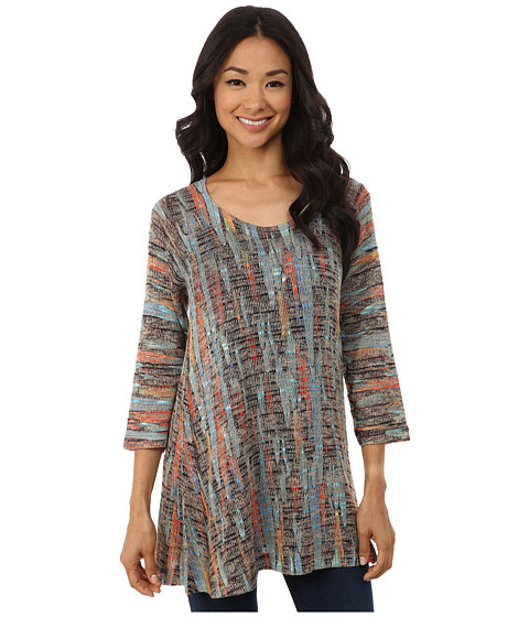 Nally & Millie - Feather Print Tunic (Multi) Women
