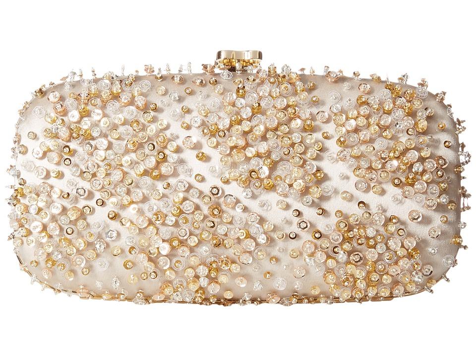 Oscar de la Renta - Goa Mosaico (Ivory/Champagne Embroidered Satin) Handbags