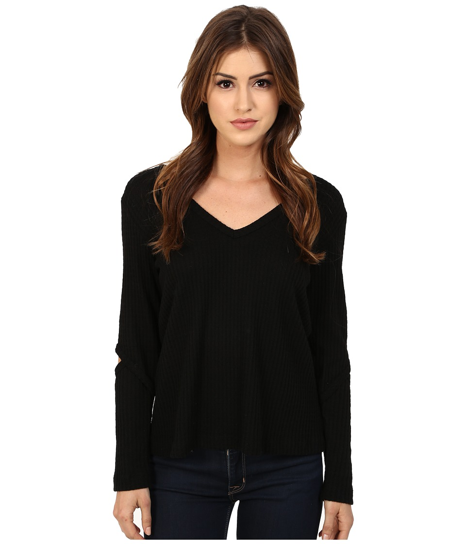 LNA - Deep V Durango Sweater (Black) Women
