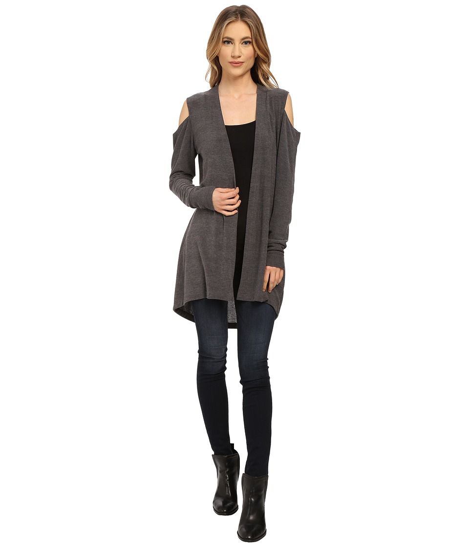 LNA - Open Shoulder Cardigan (Charcoal) Women's Sweater