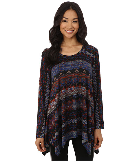 Nally & Millie - Ikat Sharkbite Tunic (Multi) Women