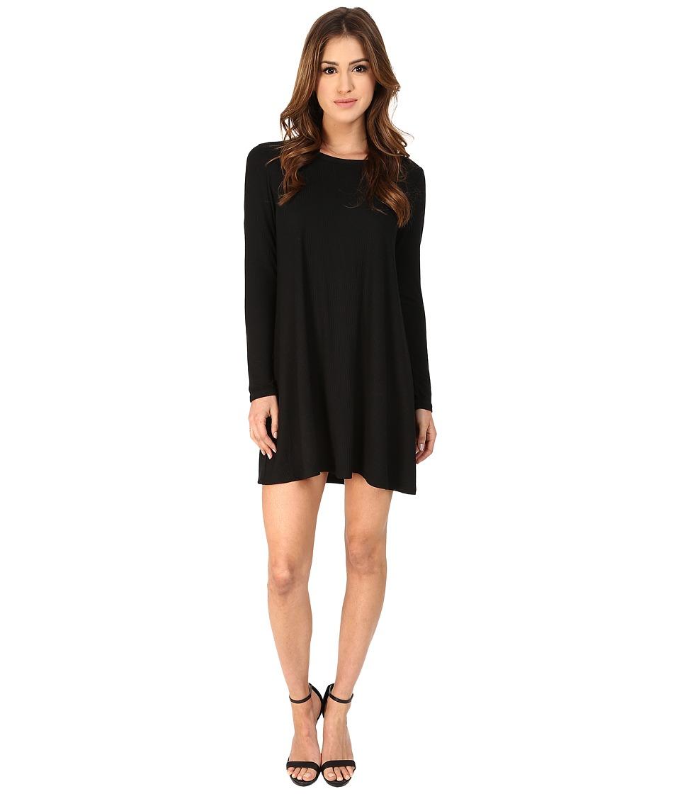 LNA - Lucia Dress (Black Rib) Women's Dress