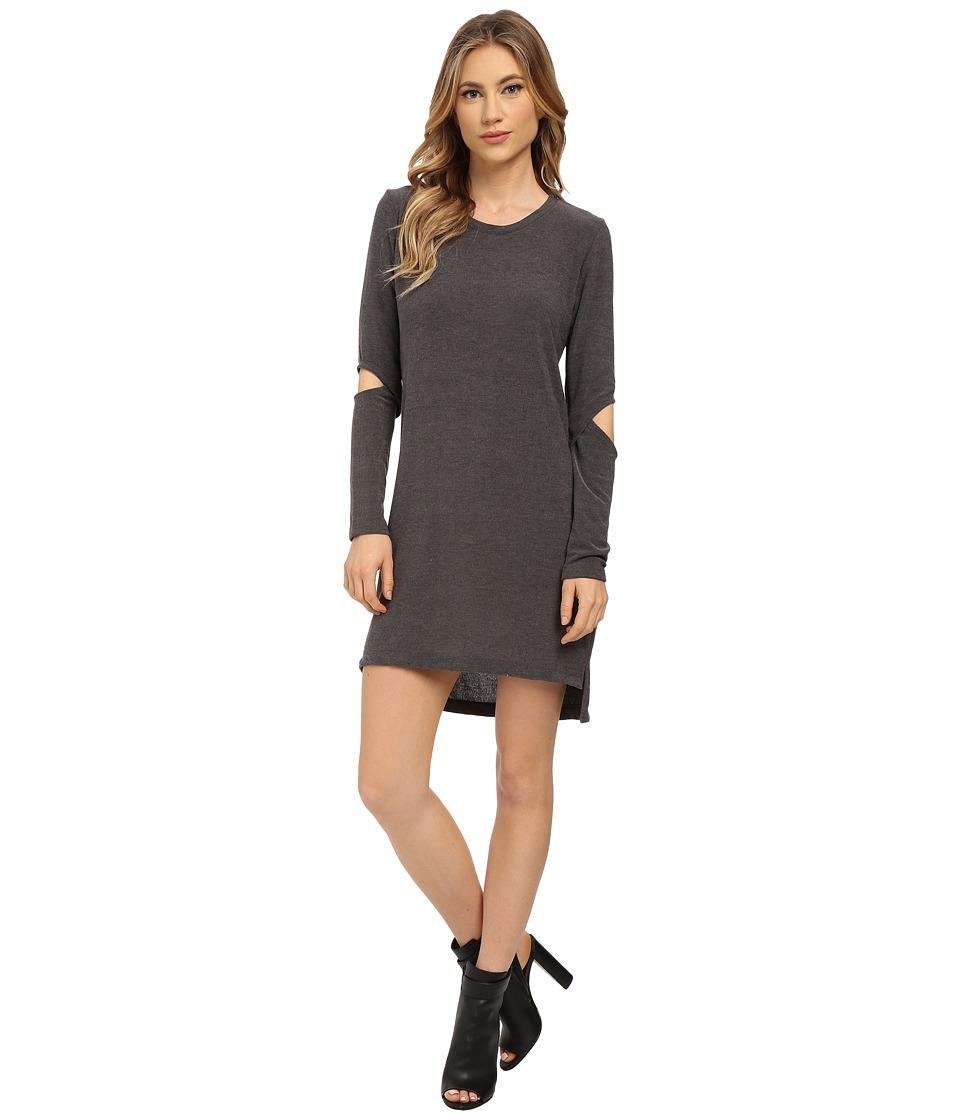 LNA - Durango Sweater Dress (Charcoal) Women's Dress