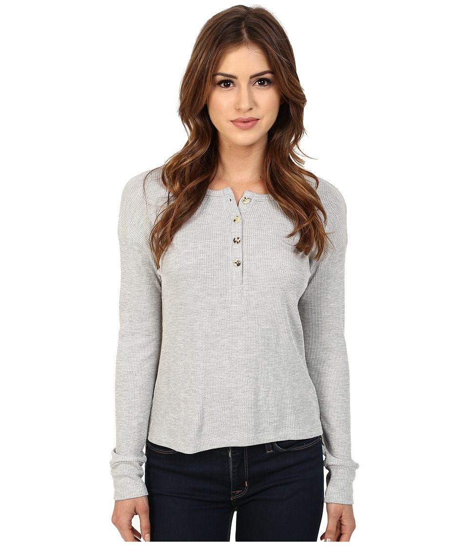LNA - Backtail Henley (Heather Grey) Women's T Shirt