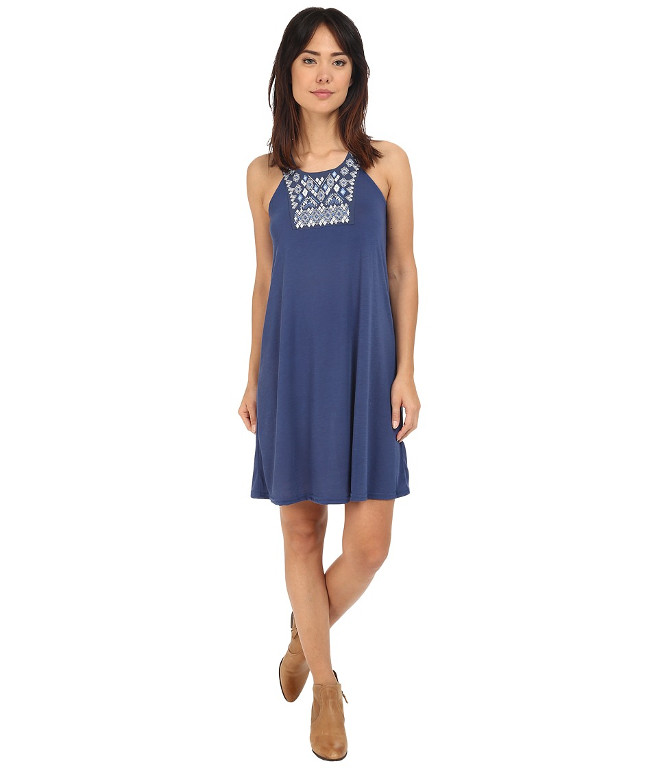 Roper 0231 Poly Slub Jersey Dress (Blue) Women