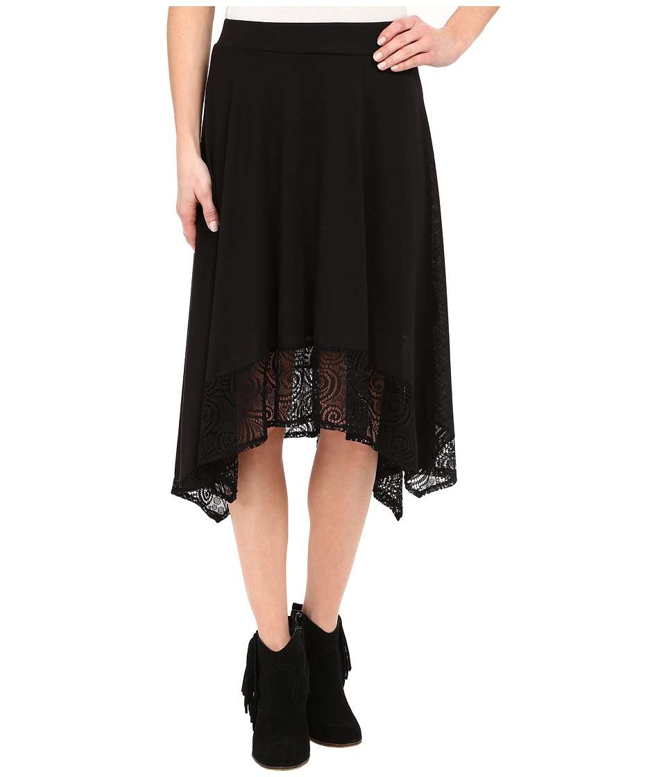 Roper 0231 Poly Slub Jersey Skirt (Black) Women