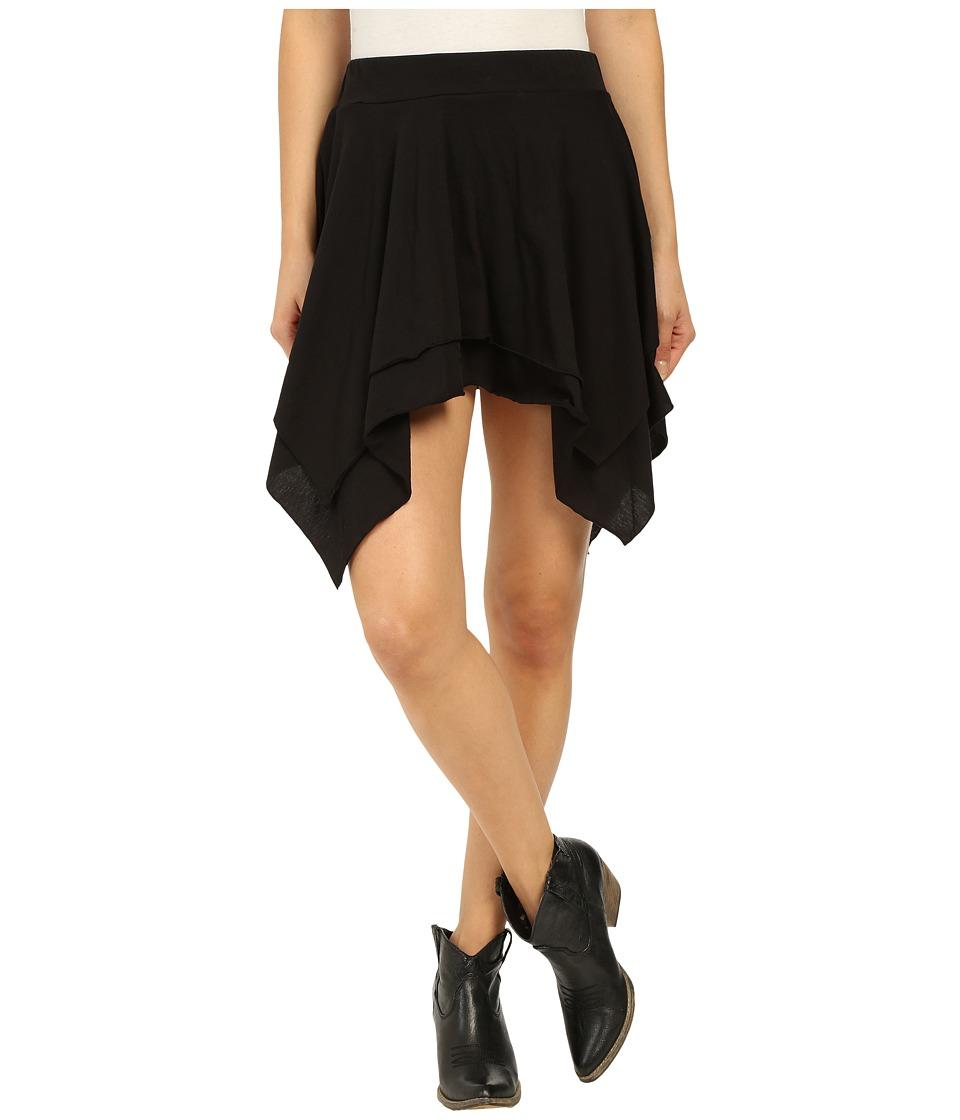 Roper - 0229 Jersey Layered Skirt (Black) Women's Skirt