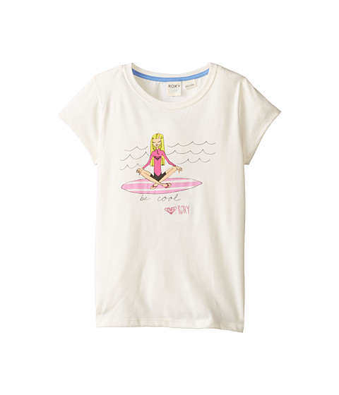 Roxy Kids - Beach Comber Tee (Little Kids/Big Kids) (Whisper White) Girl's Short Sleeve Pullover