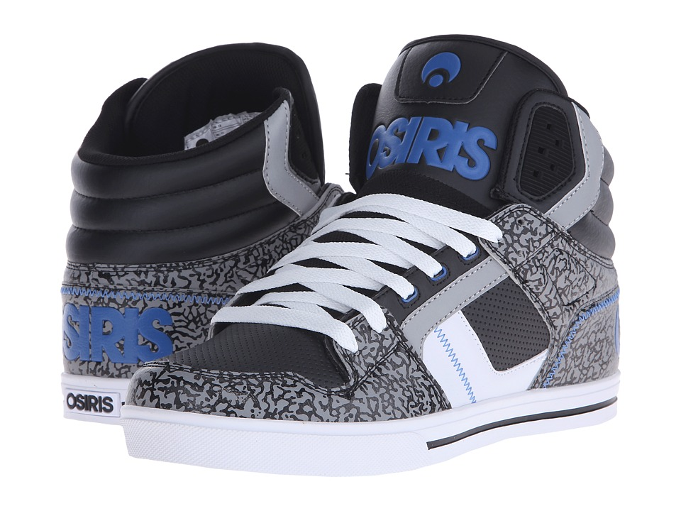 Osiris - Clone (Black/Blue/Elephant) Men's Skate Shoes