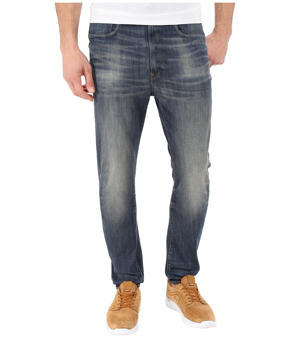 G-Star - Type C 3D Super Slim in Blue Delm Stretch Denim Dark Aged Antic (Blue Delm Stretch Denim Dark Aged Antic) Men's Jeans