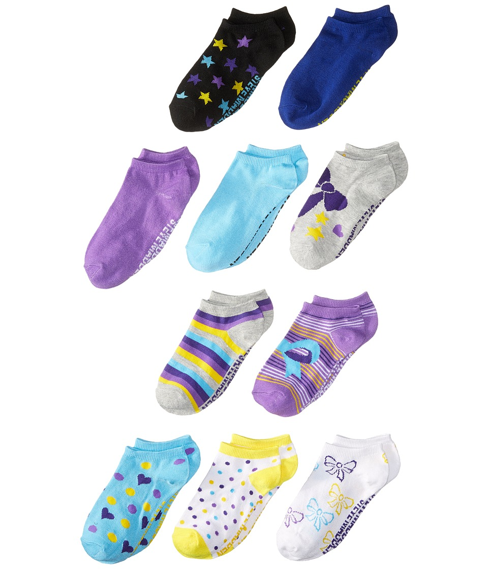 Steve Madden - 10-Pack Fashion Low Cut Socks (Toddler/Little Kid/Big Kid) (Heather Grey) Women