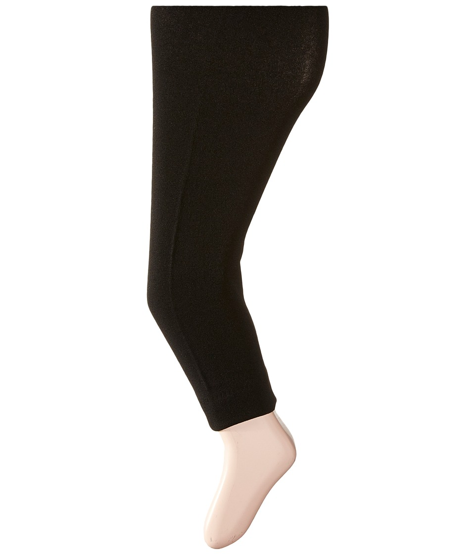 Steve Madden - Fleeced Lined Leggings (Little Kid/Big Kid) (Black) Women's Clothing
