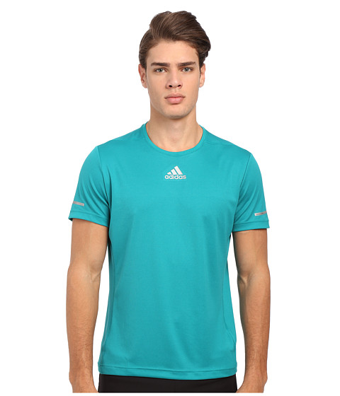 adidas - Run Tee (EQT Green) Men's Workout