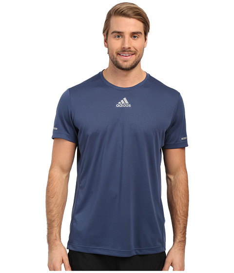 adidas - Run Tee (Mineral Blue) Men's Workout