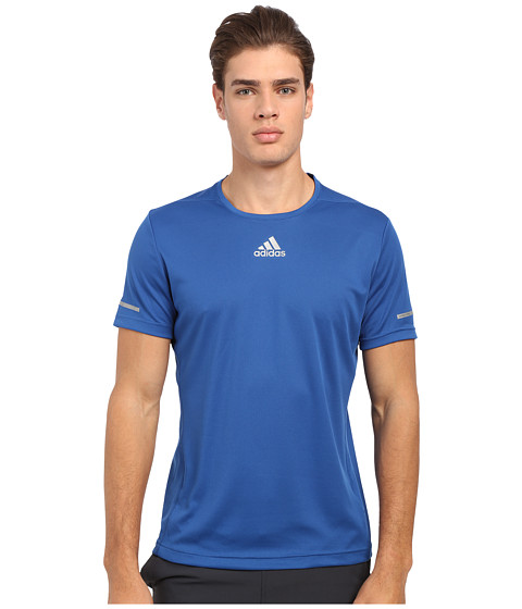 adidas - Run Tee (EQT Blue) Men's Workout