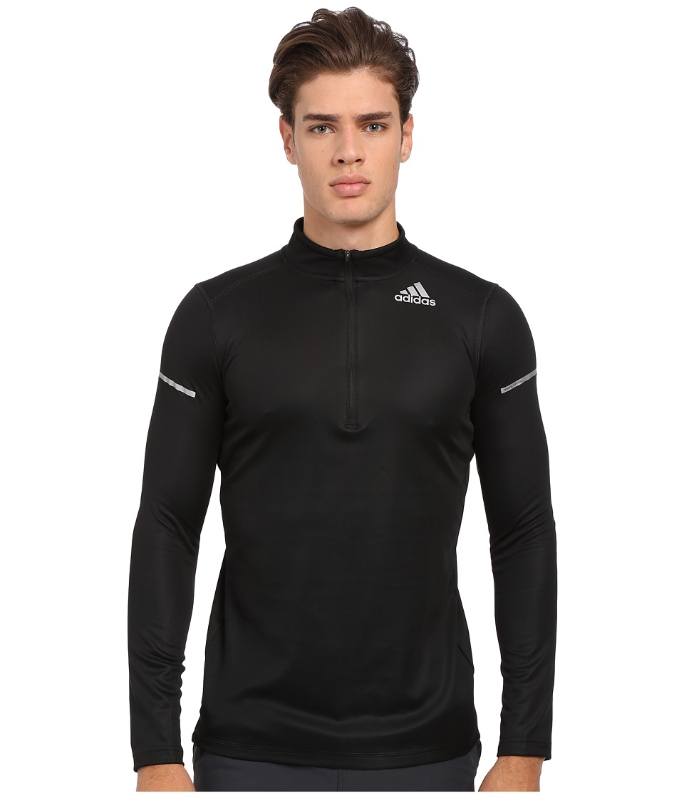 adidas - Run Half Zip Long Sleeve (Black) Men's Workout