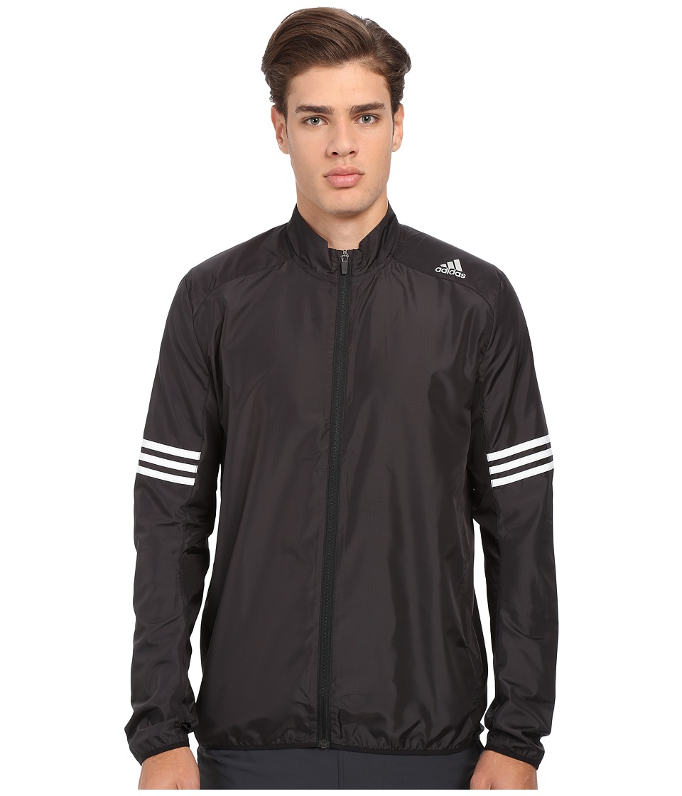 adidas - Response Wind Jacket (Black/White) Men's Coat