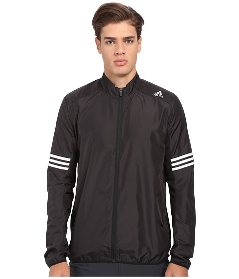 adidas - Response Wind Jacket (Black/White) Men's Coat