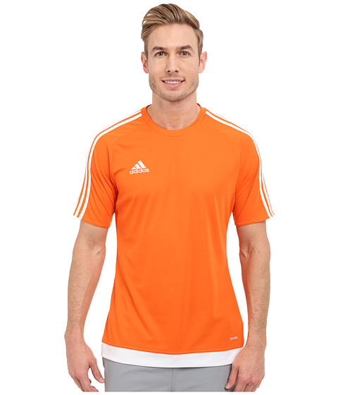 adidas - Estro 15 Jersey (Orange/White) Men's Short Sleeve Pullover
