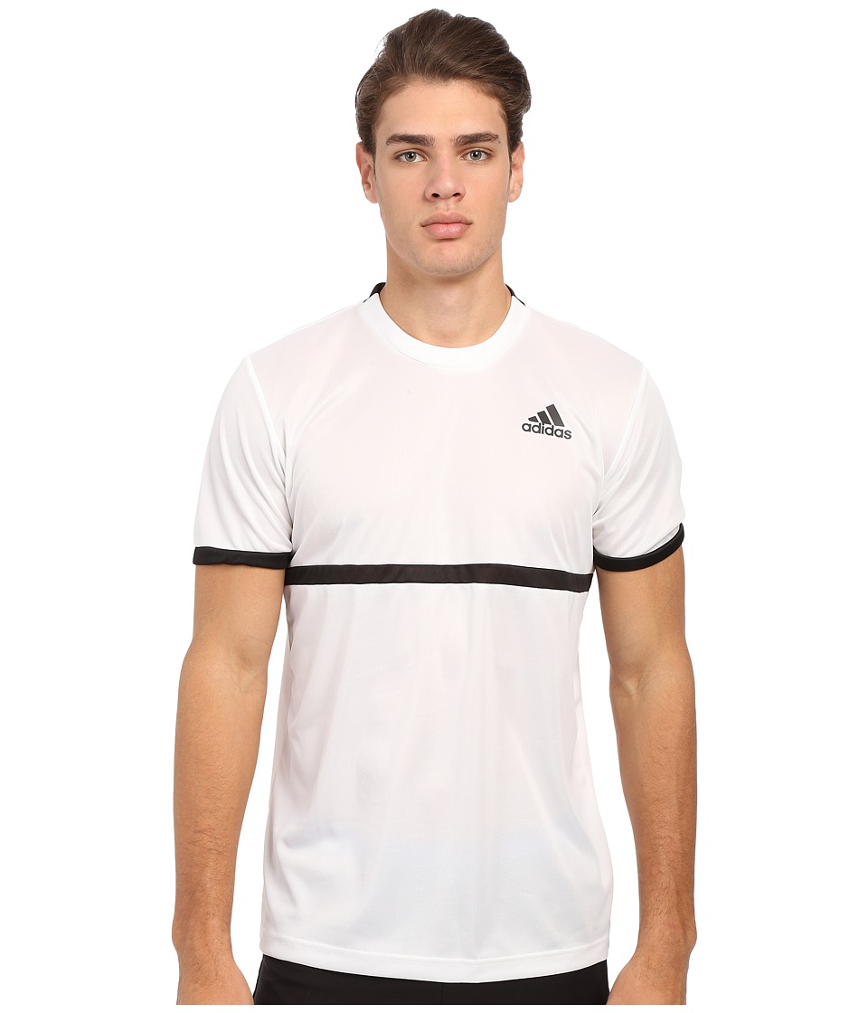 adidas - Court Tee (White/Black) Men's Short Sleeve Pullover
