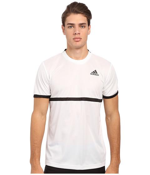 adidas - Court Tee (White/Black) Men's Short Sleeve Pullover