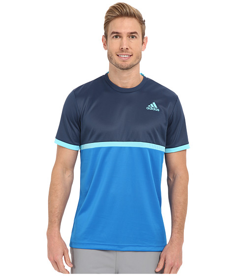 adidas - Court Tee (Mineral Blue/Blue Glow) Men