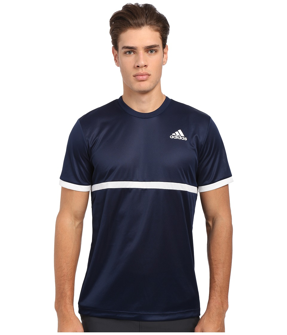 adidas - Court Tee (Collegiate Navy/White) Men's Short Sleeve Pullover