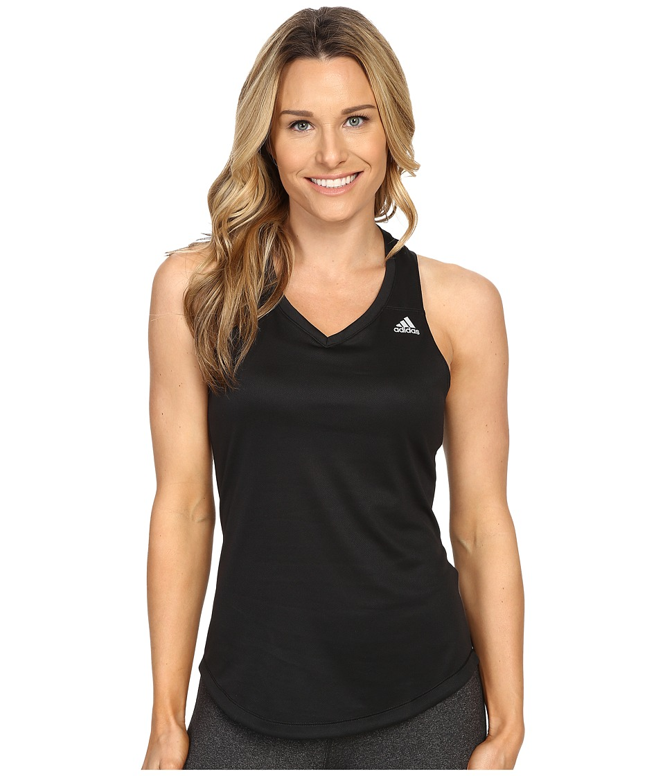 adidas - Run Tank Top (Black) Women's Sleeveless