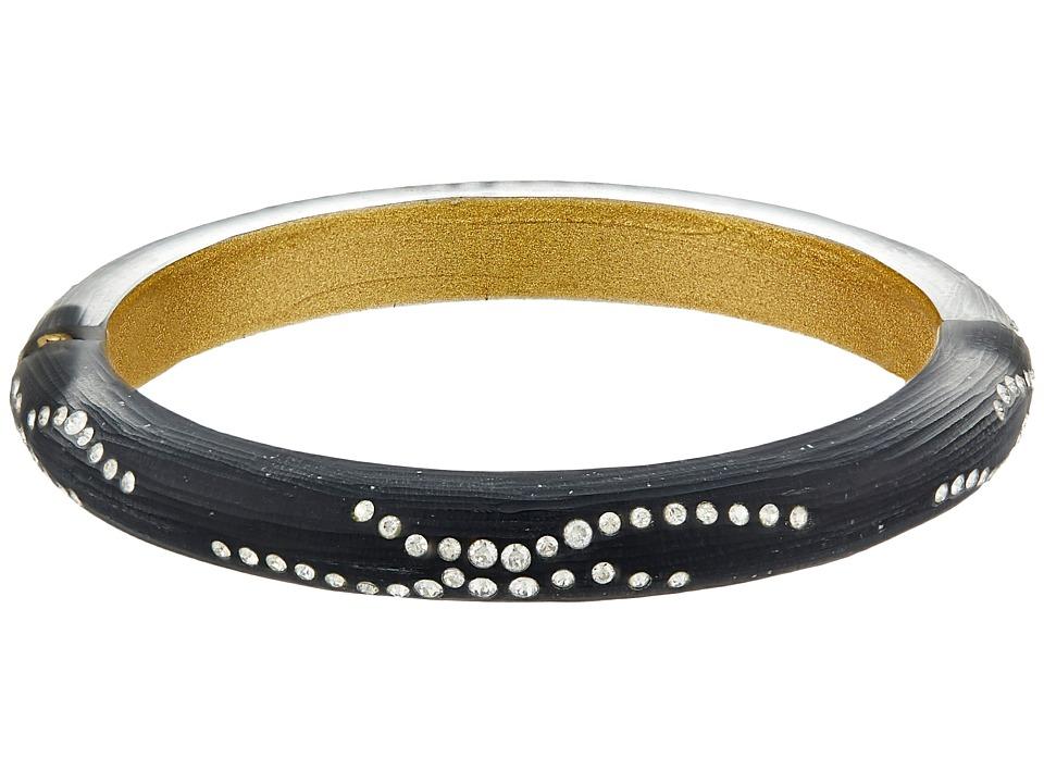 Alexis Bittar - Small Diamond Dust Hinge (Black) Bracelet