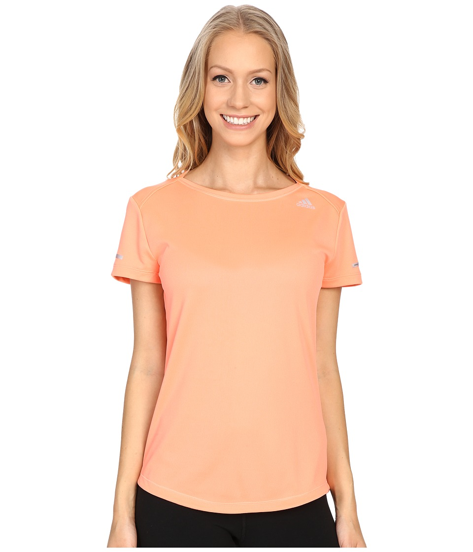 adidas - Run Short Sleeve Tee (Sun Glow) Women's Short Sleeve Pullover