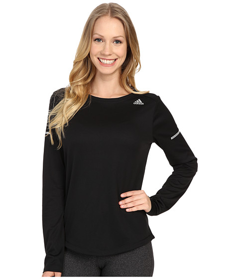 adidas - Run Long Sleeve Tee (Black) Women's Long Sleeve Pullover