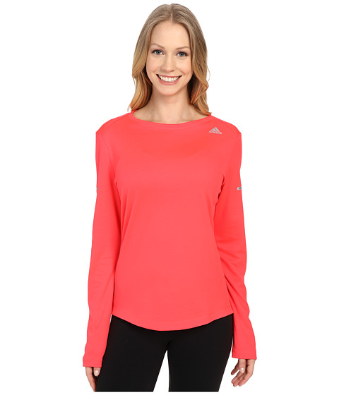 adidas - Run Long Sleeve Tee (Shock Red) Women