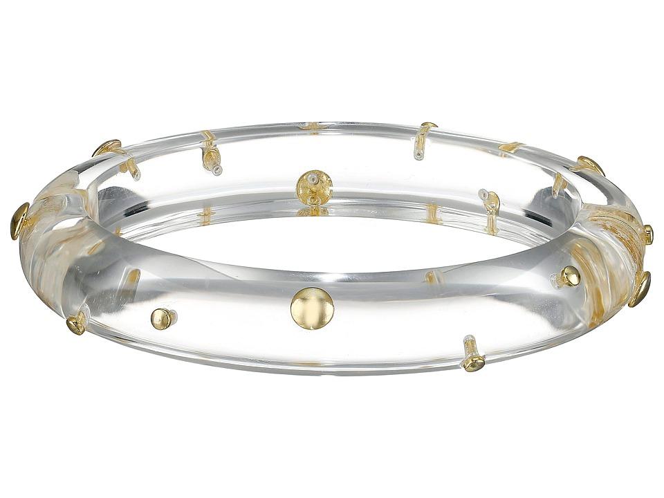 Alexis Bittar - Gold Studded Hinge Bracelet (Clear) Bracelet