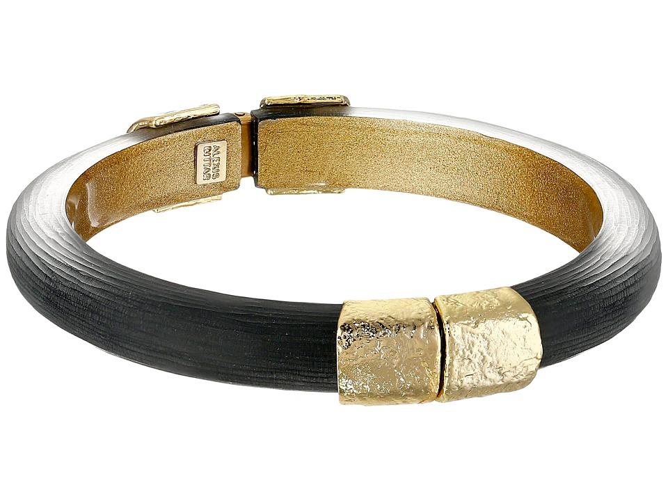 Alexis Bittar - Gold Small Hinge Bracelet (Black) Bracelet