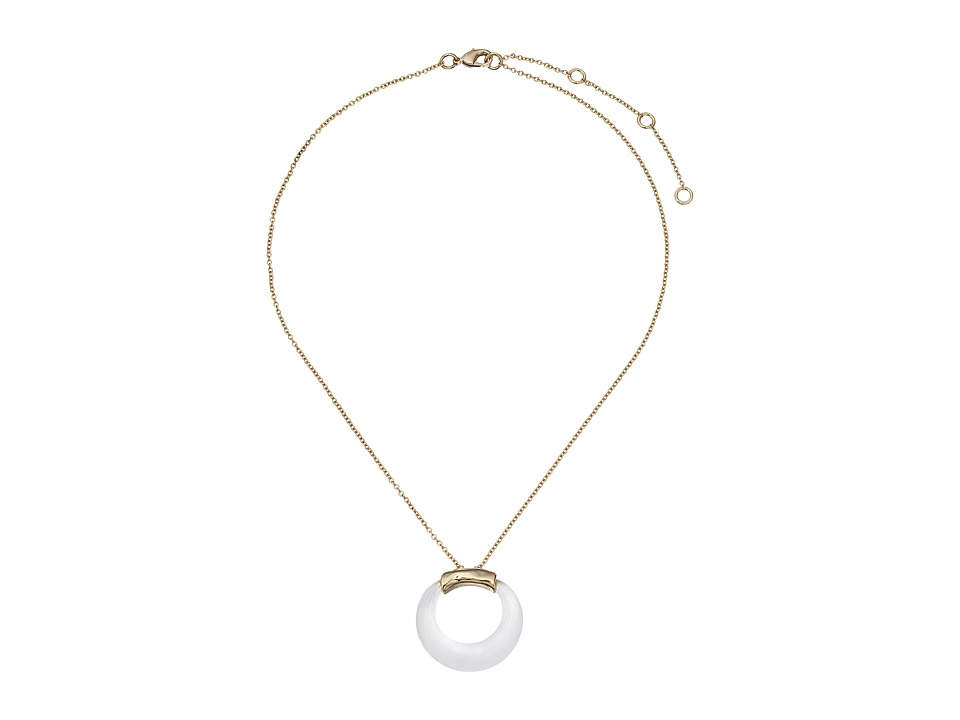 Alexis Bittar - Original Gold Circle Pendant Necklace (Silver) Necklace