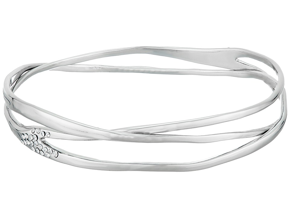 Alexis Bittar - Liquid Bangle Bracelet (Rhodium) Bracelet