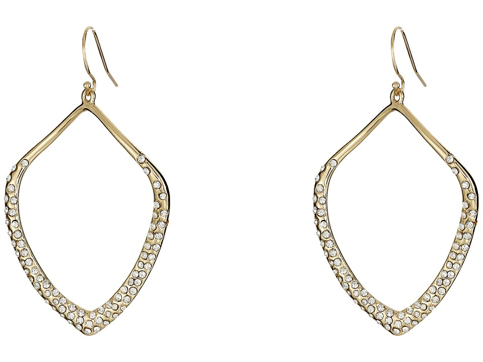 Alexis Bittar - Pave Kite Shaped Orbit Wire (Gold) Earring