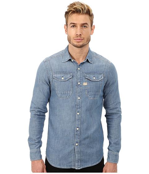 G-Star - Wolker Long Sleeve Button Up (Light Aged) Men