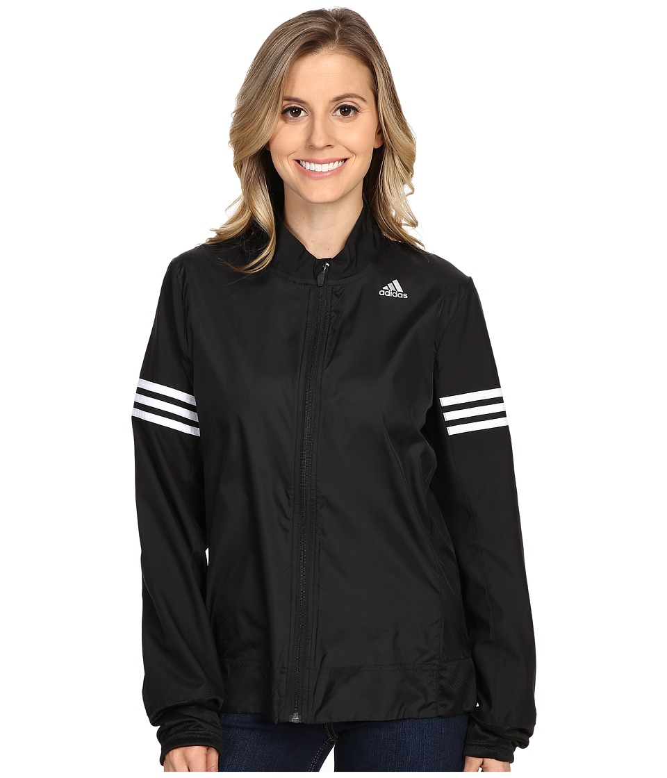 adidas - Response Wind Jacket (Black/White) Women's Coat